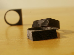 Lined Block Ring