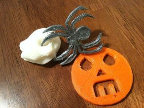 Jack-o-lantern w/Makerbot & RepRap logos