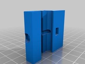 45 degree angled picatinny rail adapter