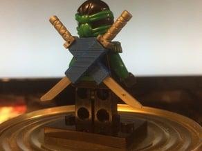 Lego Ninjago Sheath for two swords in a cross.