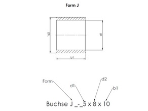 Bronze Bushing Form J *fine resolution*