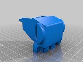 Modded wind barrier V.3 for UP Mini extruder