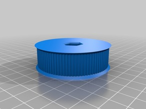 My Customized Pulley generator with hex hole and hub holes support (useful in FRC)