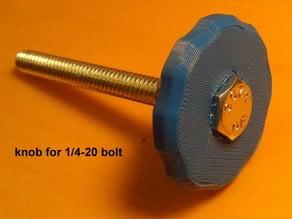 handle for 1/4-20 bolt (camera tripod mount size)