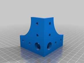 20x20 mm extrusion corner connector for m6 screws