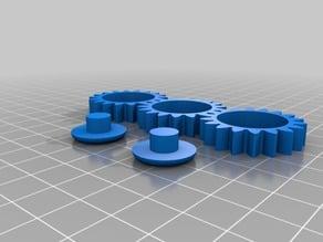 Fidget 3D Gears 608 bearings 88x60x32mm