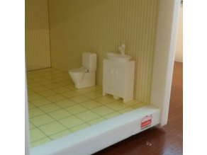 Toilet furniture to dollhouse