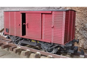 Covered wagon, 1:32 scale gauge 1