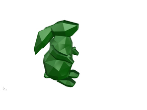 Rabbit low poly, coelho