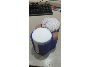 Toothpicks + cotton swab + cotton pads holder