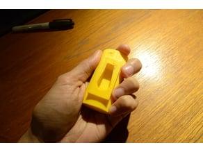 Helpful grip for garden hose valve.