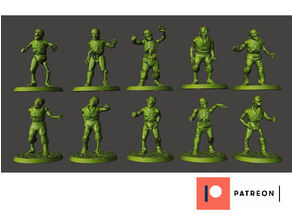 28mm Zombie - Walking Undead Miniature - Ghoul