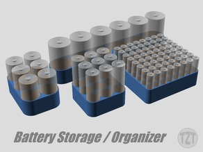 Customizer - Battery Organizer, Holder, Container, Box, Storage Tray