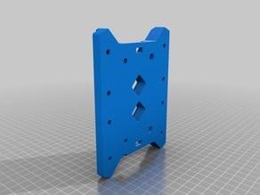 Remix of RobFlip's V2 Tevo Tarantula Bed Support Main Body - wheel slop removal - acrylic part elimination