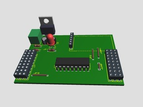 Módulo con PIC16F628A - Module with PIC16F628A