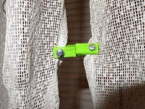 Curtain magnet holder