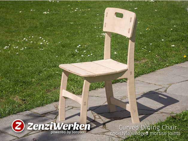 Tremendous Curved Dining Chair Cnc Style Wedged Mortise Joints By Spiritservingveterans Wood Chair Design Ideas Spiritservingveteransorg