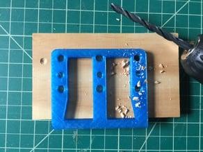 "Shelf Pin Hole Jig for 1/4"" and 5mm Shelf Pins"