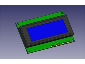 LCD 2004A (STEP and STL file for design)