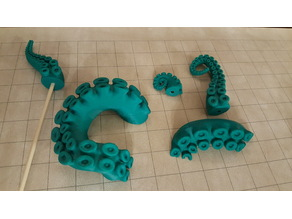 Octopus tentacle cake toppers