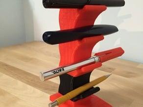 Desktop modular pen stand