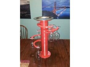 Spiral wineglass-holder