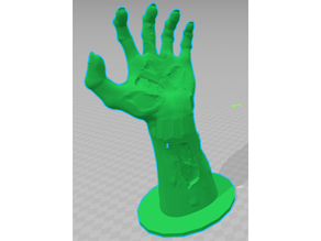 zombie hand with pedestal