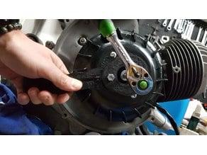 Vespa flywheel removal & mount tool