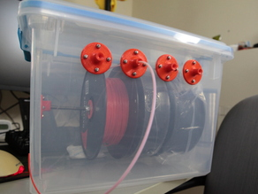 Filament dry box for 3-4 spools of filament