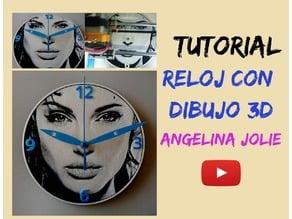 Reloj Angelina Jolie 3D