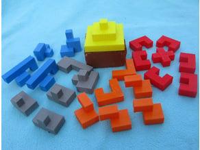 Four Pyramid Puzzles