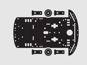 2WD laser cut robot chassis