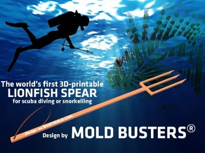 Dive Spear for LionFish Hunting 3D Printable
