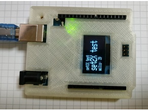 Arduino Uno Snug Case - top with oled screen