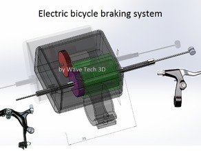 Electric bicycle braking system for handicapped