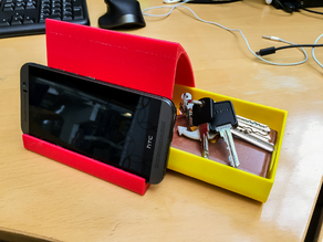 Double phonestand with optional drawer