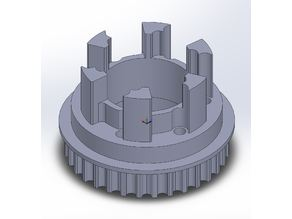 Longboard ABEC 11 Flywheels - Flywheel Clones - MBS All Terrain Wheels - CNC 32T Single Piece Pulley for 9mm, 12mm, 15mm Belts