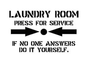 Laundry Plaque