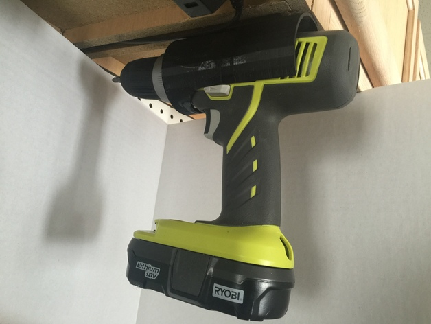 Ryobi Cordless Drill Holder By Elproducts Thingiverse