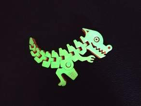Flexi rexi dino glow in the dark multicoloured!!