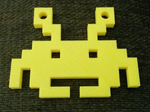 Space Invaders 8 bit Christmas Ornament