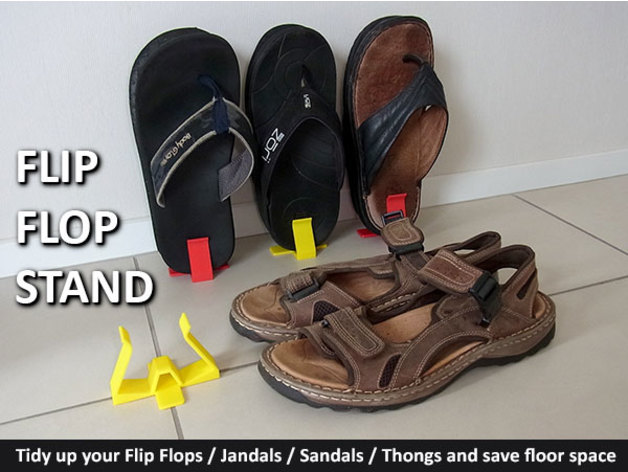 177dbc5c3798 Flip Flops (Jandals   Thongs   Sandals) Stand by muzz64 - Thingiverse