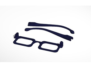 Navy blue glasses