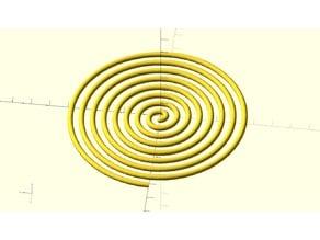 Lazy Mans Archimedean Spiral