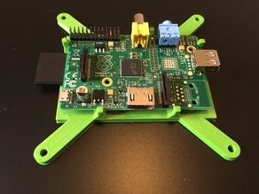 Raspberry Pi (model A/B) bracket (with clips) for VESA-mount