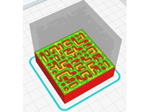 3D hollow maze for a small ball