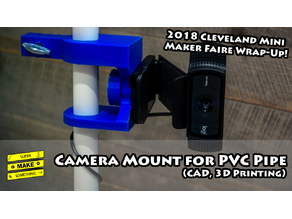 Camera Mount for PVC Pipe