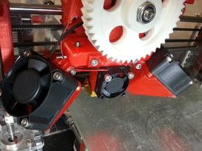 J head clamp with 25mm fan mount