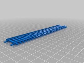 Interlocking ho scale track, all plastic. Six inch straight.