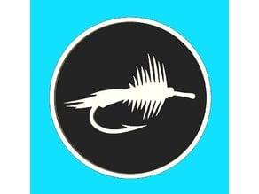 Fishing Fly Fridge Magnet